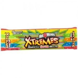 Airheads Xtremes Sour Belts Rainbow Berry