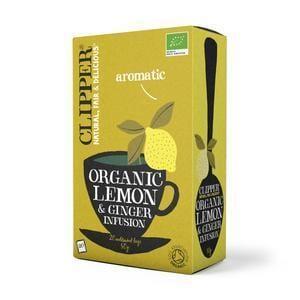 Clipper Organic Lemon & Ginger Infusion 20S 50g