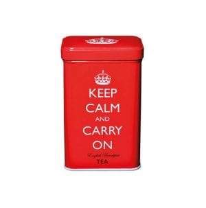 Keep Calm and Carry On Red Tin 40 English Breakfast Teabags 125g