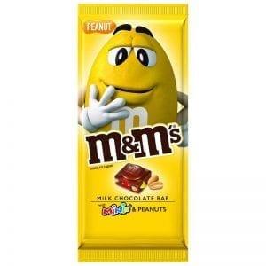 M&M's Peanut Milk Chocolate Bar With Minis 165g