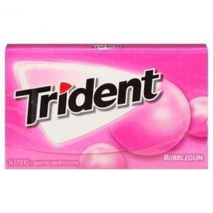 Trident Bubble Gum 14pc