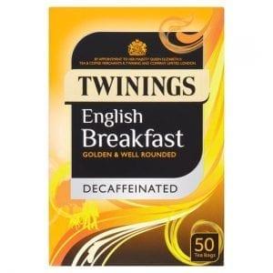 Twinings English Breakfast Decaffeinated Tea Bags 50pc 125G