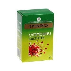 Twinings Green tea Cranberry 20ks 40g