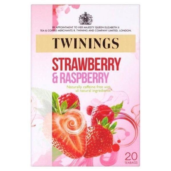 Twinings Strawberry, Raspberry 20ks 40g