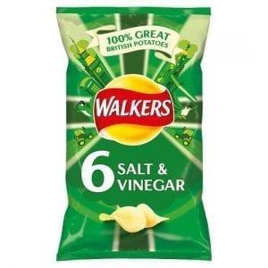 Walkers Salt & Vinegar 6 x 25g