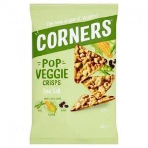 Corners Pop Veggie Crisps Sea Salt Peas, Corn & Black Beans 85 g