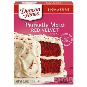 Duncan Hines Signature Perfectly Moist Red Velvet Cake Mix 432g