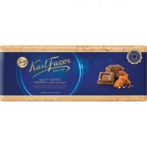 Fazer Salty Toffee Crunch Milk Chocolate 250 g