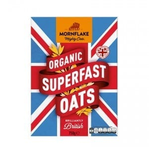 Mornflake Superfast Organic Oats 750g