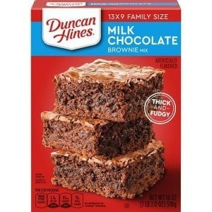 Duncan Hines Milk Chocolate Brownie Mix 510g