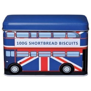 London Bus Union Jack Tin English Shortbread Biscuits 100g