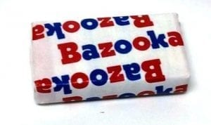Bazooka Throwback Original Bubble Gum 1ks