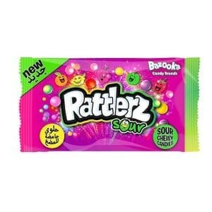 Bazooka Rattlerz Sour Chewy Candies 40g