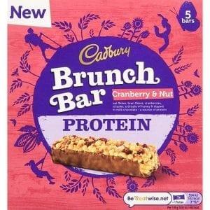 Cadbury Brunch Bar Cranberry Protein 6pk 160g