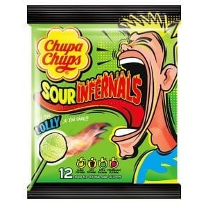 Chupa Chups Sour Infernals Lolly 114 g