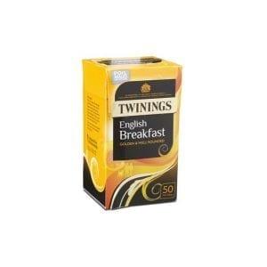 Twinings English breakfast 50ks  125g