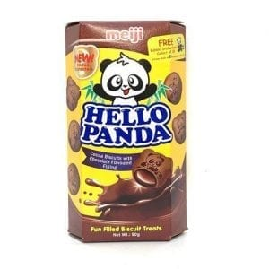 Meiji Hello Panda Cocoa Biscuits with Chocolate 50g