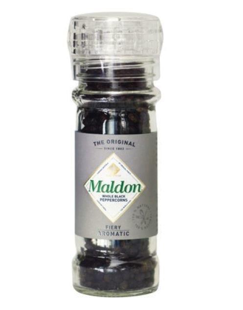 Maldons Black Peppercorns Grinder 50g