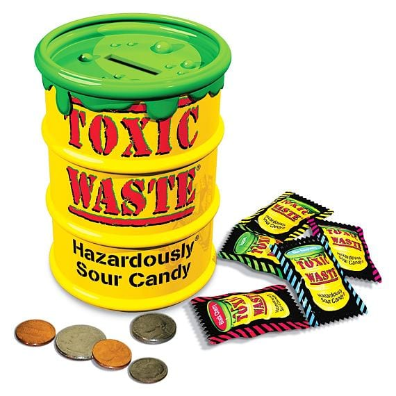 Toxic Waste Yellow Money Bank 84g