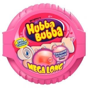 Hubba Bubba Mega Long Tape Fancy Fruit 56g