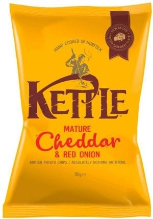 Kettle Mature Cheddar and Red Onion 150g