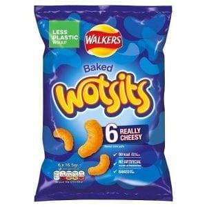 Walkers Wotsits Cheese 6 x 16,5 g