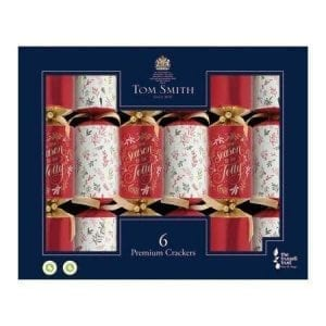 Tom Smith 6 Red & Gold Premium Christmas Crackers