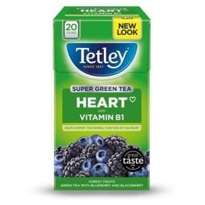 Tetley Super Green Tea Blueberry & Blackberry 20 ks 40 g