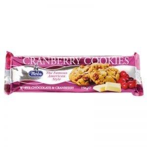 Merba White Chocolate Cranberry Cookies 175 g