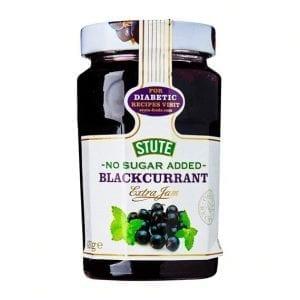 Stute No Sugar Added Blackcurrant Extra Jam 430 g