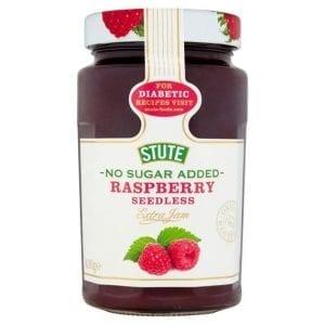 Stute No Sugar Added Raspberry Seedless Jam 430 g