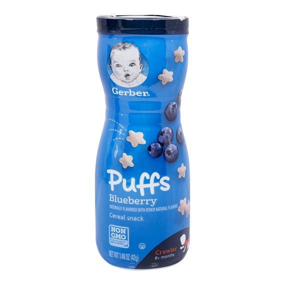Gerber Puffs Blueberry Cereal Snack 42 g