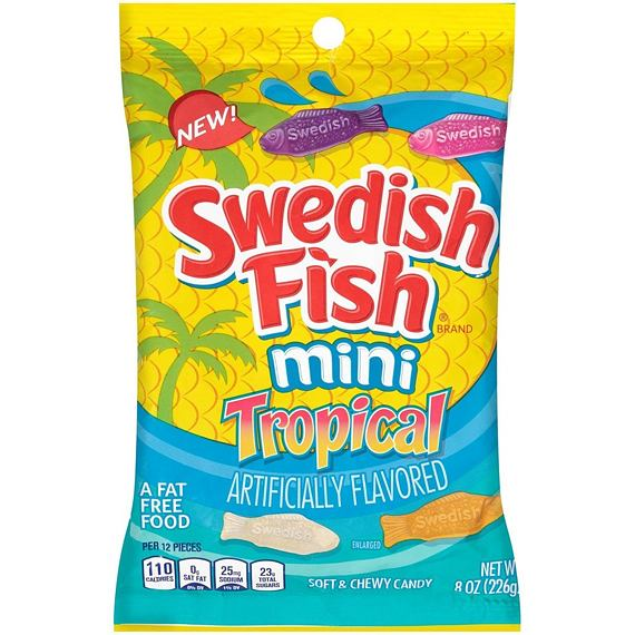 Swedish Fish Mini Tropical 226 g