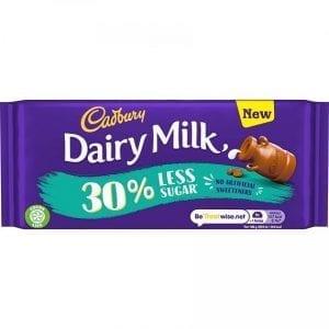 Cadbury Dairy Milk 30% Less Sugar 85 g