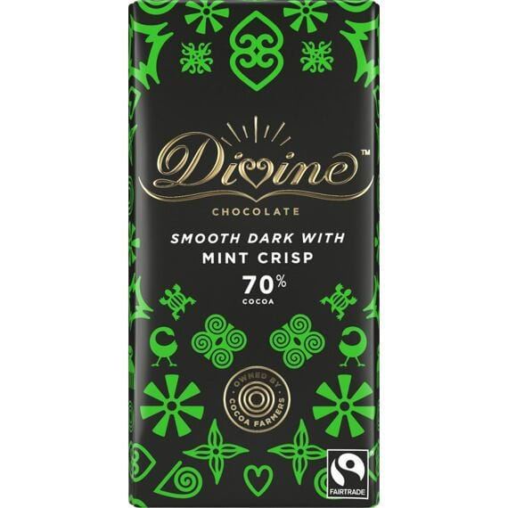 Divine Dark Chocolate & Peppermint Crisp 90 g