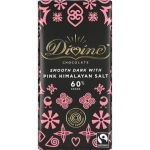 Divine Dark Chocolate & Pink Himalayan Salt 90 g