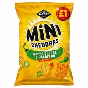 Jacob's Mini Cheddars Nacho Cheese & Jalapeňo PM 105 g