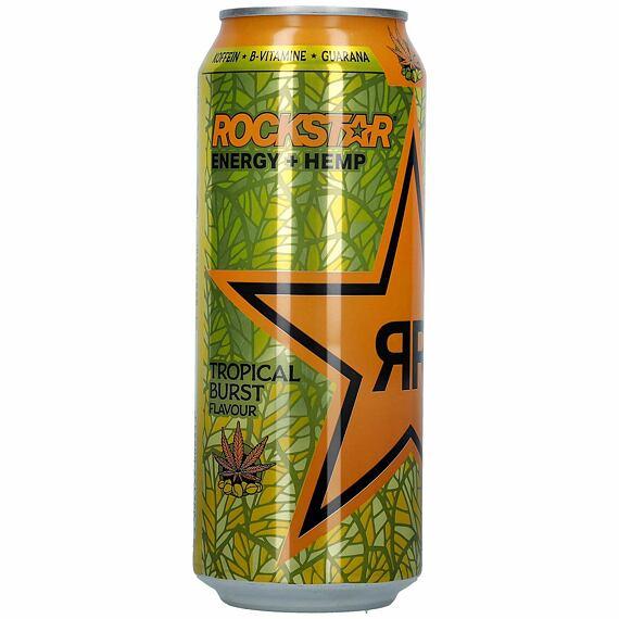 Rockstar Energy + Hemp Tropical Burst 500 ml