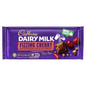 Cadbury Dairy Milk Fizzing Cherry 110 g