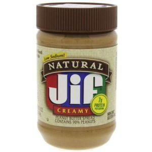 Jif Natural Creamy Peanut Butter 454 g
