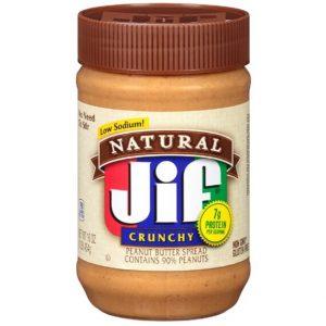 Jif Natural Crunchy Peanut Butter 454 g