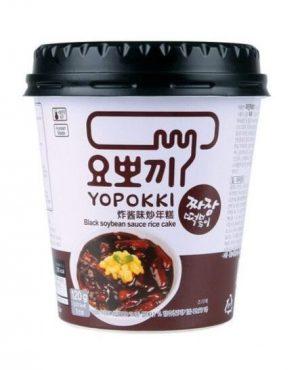 Yopokki Jjajang ryžové kúsky v sójovej omáčke – kelímok 120 g